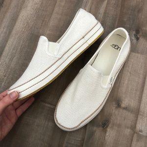 Ugg Bren slip on white knit sneakers